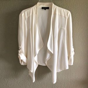 Karen Kane White M Open Jacket